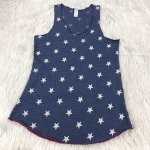 Alternative Apparel Star Print Racer Back Tank